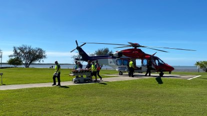 Man in critical condition after shark bite in north Qld