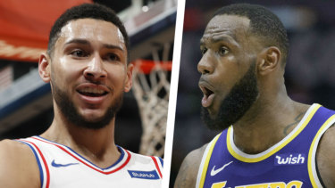 Big time: A showdown between Ben Simmons and LeBron James would be a rare treat for Australian fans.