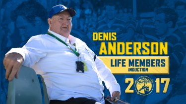 Club favourite: Denis Anderson was given life membership of the Eels in 2017.