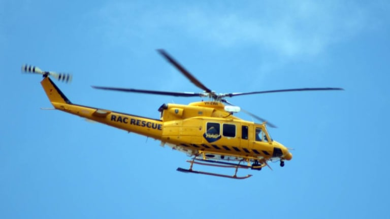 The RAC rescue helicopter helped at the Warnbro crash scene.