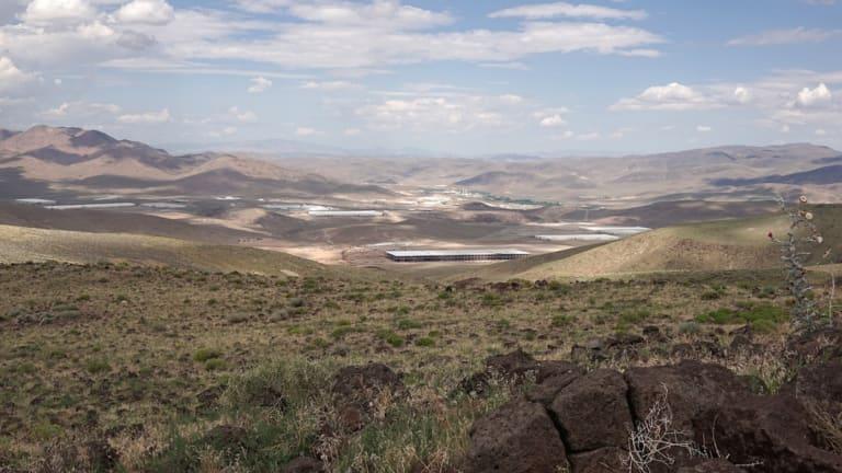 Tesla's Gigafactory under construction near Reno, Nevada.