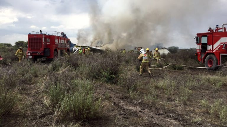 A plane has crashed shortly after take-off in northern Mexico