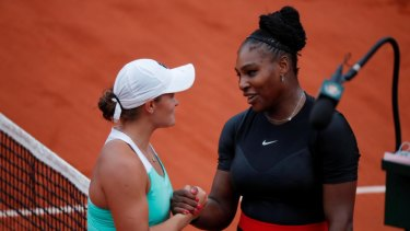 On the move: Australia's Ash Barty and Serena Williams have both risen in the latest rankings.