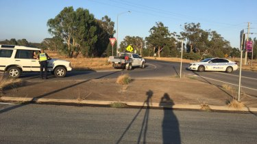 Police are at the scene of a possible hit-run in Murchison, near Shepparton.