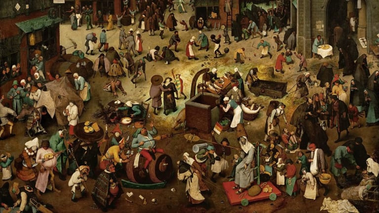 New technology is peeling back the layers of Bruegel's The Fight Between Carnival and Lent to show the artist's original intent.