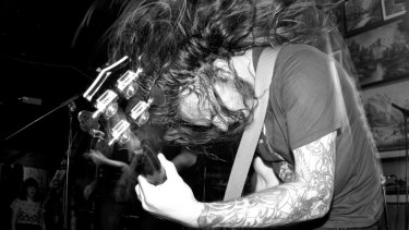 Violent Soho performing at Woodland in 2011.