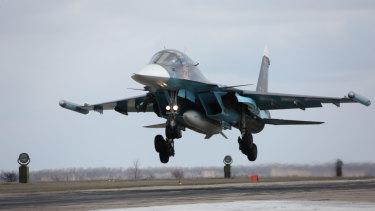 A Russian Su-34 bomber.