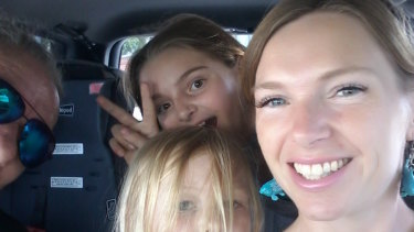 Sarah Lady with her two daughters.