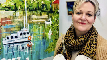 Julie Peadon started her business last year to teach adults and kids fine art.
