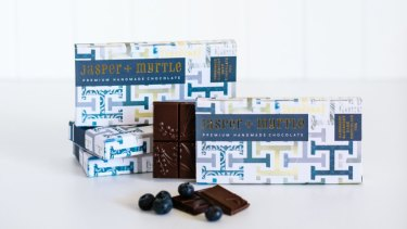 For Handmade's 10th birthday, Jasper + Myrtle handcrafted this exclusive bar, with blueberries, keeping with the market's signature colour of blue.