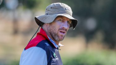 Brad Thorn at Ballymore in his first season in charge.