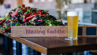 Bentspoke's Blazing Saddle beer is made from 23 chillies and heritage grains.