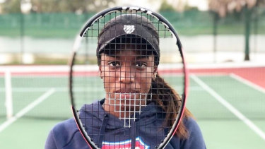 Tennis player Sachia Vickery poses for Instagram project, 'Behind the Racquet.'
