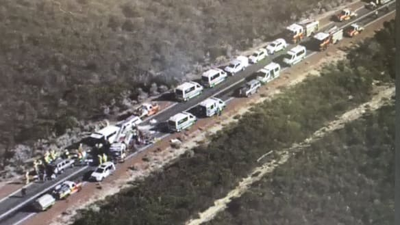 Three dead, several injured after bus and 4WD crash on highway