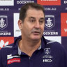 Cranky Lyon cuts short post-match conference after loss to Crows