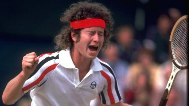 John McEnroe throws a tantrum at Wimbledon in 1980 in response to an umpire's ruling.