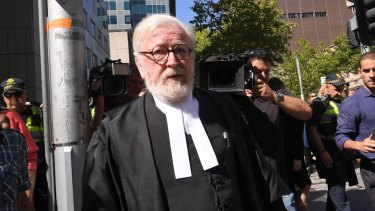 Robert Richter, QC, leaves County Court on Wednesday.