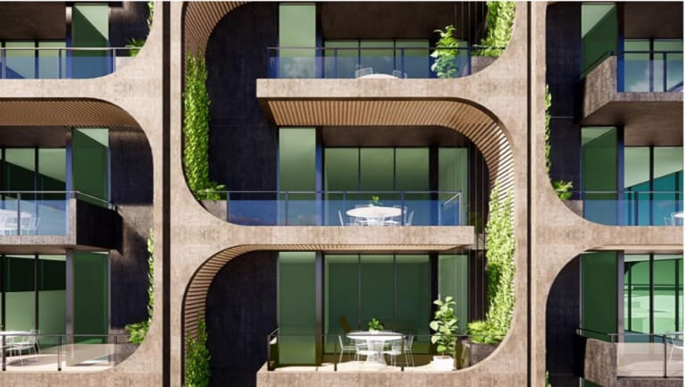 """Aria Property Group have proposed creating a building with a """"breathing green facade""""."""