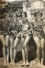 Nola on holidays during her younger days (second from the right).