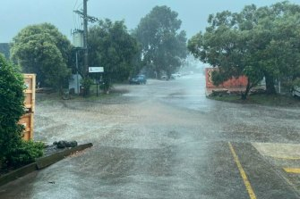 Flash flooding in Baywater.