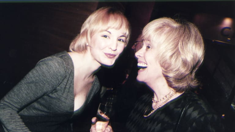Cathy Godbold with her mother Rosemary Margan in 1997.