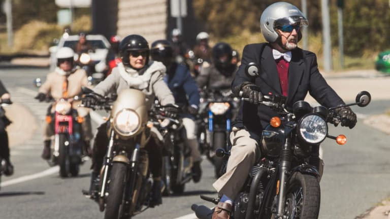 The Distinguished Gentleman's Ride Canberra.