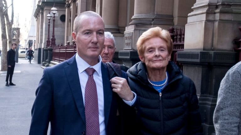 Timothy Baker (left) outside the Melbourne Supreme Court in 2017.