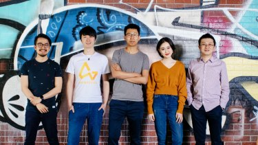 The founding team of AirWallex (from left): Max Li, Xijing Dai, Jack Zhang, Lucy Liu and Ki-lok Wong.