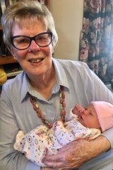 Joan Brown in pre-lockdown days with her  great- granddaughter, Abbie.