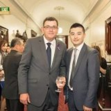 Marty Mei and Victorian Premier Daniel Andrews