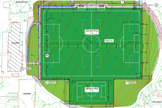 Tender plans for Moreland Council to turn the oval at Hosken Reserve, Coburg North, into a synthetic soccer pitch.