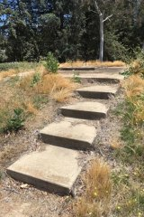 Stairs to nowhere leading off Adelaide Avenue near Parliament House.