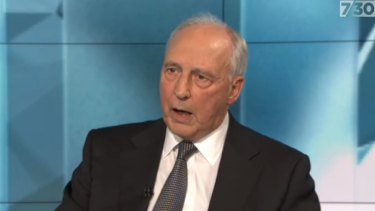 Paul Keating discusses Labor's election loss on ABC's 7.30.