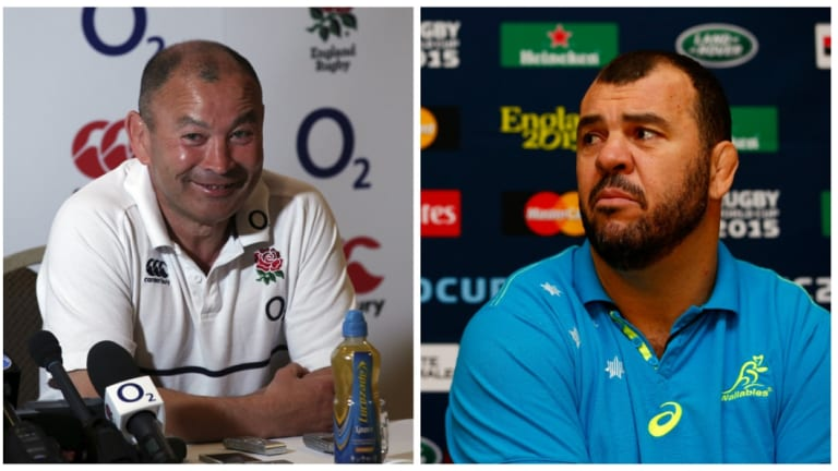 Tale of two coaches: Eddie Jones and Michael Cheika have both come under fire this year, and will clash in the final Test of the Wallabies' spring tour.