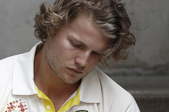 David Warner's injury has heightened the prospect of Will Pucovski, pictured, joining Joe Burns at the top of the order.