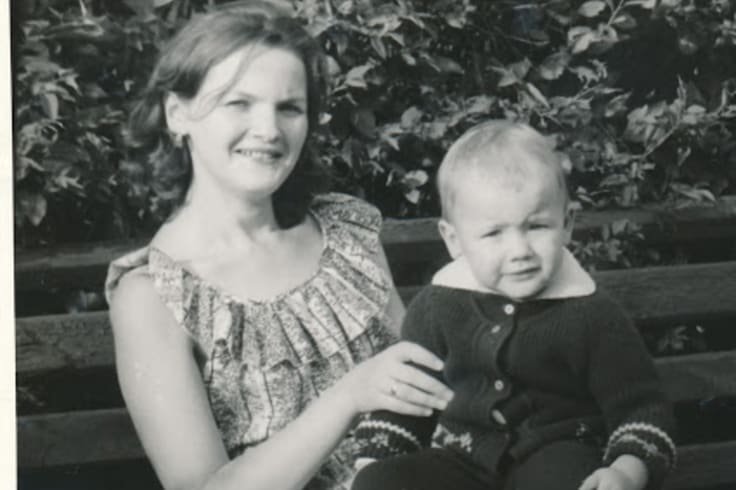 Ruslan Kogan with his mother Irene.