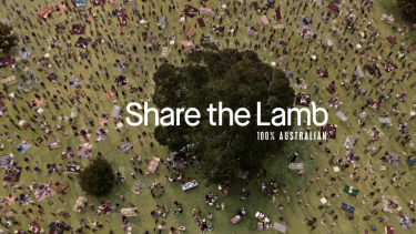 The Meat and Livestock Australia lamb ad aired after Australia Day, later than in previous years.