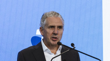 Creating options:  Telstra CEO Andy Penn.