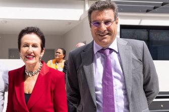 Developer Fouad Deiri, managing director of Deicorp, with Sydney's Lord Mayor Clover Moore (left).