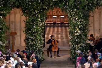 Sheku Kanneh-Mason performing at the royal wedding.