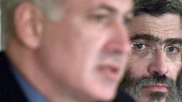 Gutnick with Israeli Prime Minister Benjamin Netanyahu in 2001.