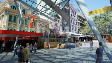 Design plans for the Queen Street Mall upgrade.