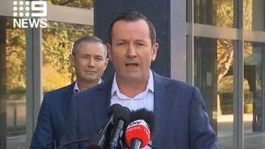 Premier Mark McGowan and Health Minister Roger Cook addressed the media on Sunday morning.