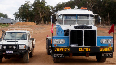 At the time, Rhodes Ridley was the biggest road truck in the southern hemisphere.