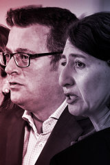 Premiers Daniel Andrews and Gladys Berejiklian have taken different paths out of lockdown.