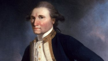 A painting of Captain James Cook by John Webber.
