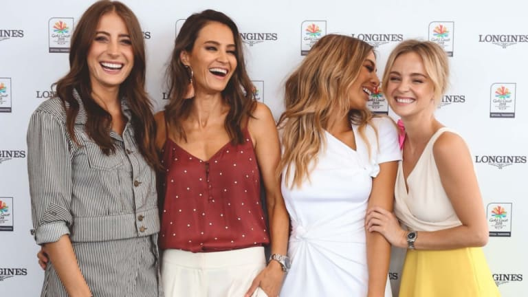 (L-R) Rebecca Harding, Kylie Brown, Nadia Bartel, and Nadia Fairfax at the Longines luncheon.