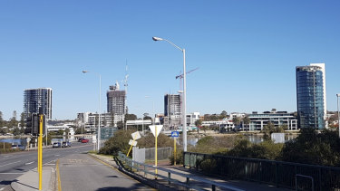 The Raffles is no longer the only high rise on the west side of Canning Bridge.