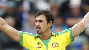 Keeping it simple: Mitchell Starc is in good form this World Cup.