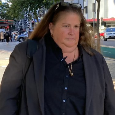 Detective Sergeant Virginia Gray leaves the Brisbane Magistrates Court on Thursday.